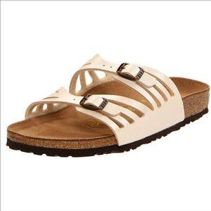 Birkenstock Granada Womens Sandal 38 Ivory